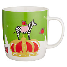Buy John Lewis Zebra Mug In Tin, Green Online at johnlewis.com