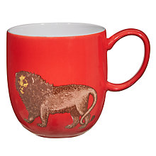 Buy Avendia Puddin' Head Lion Mug, Red Online at johnlewis.com