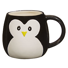 Buy John Lewis 3D Penguin Mug, Black / White Online at johnlewis.com