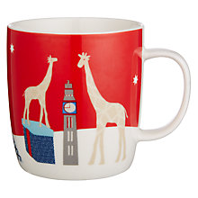 Buy John Lewis Giraffe Mug In Tin, Red Online at johnlewis.com