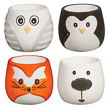 Buy John Lewis Animal Egg Cup, Set of 4 Online at johnlewis.com