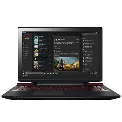 "Image of Lenovo Ideapad Y700 Gaming Laptop, Intel Core i7, 16GB RAM, 1TB HDD + 128GB SSD, 15.6"" Ultra HD (4K), Black"