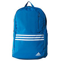 Buy Adidas Versatile 3 Stripes Backpack Online at johnlewis.com