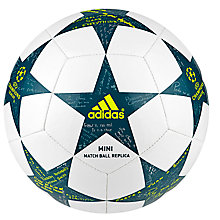 Buy Adidas UCL Finale 16 Mini Football, Size 1, White/Green Online at johnlewis.com