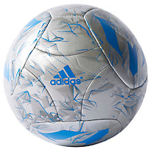 Buy Adidas Messi Mini Football, Size 1, Silver/Blue Online at johnlewis.com