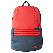 Buy Adidas Three Stripe Versatile Backpack, Pink/Grey Online at johnlewis.com