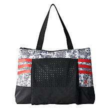 Buy Adidas Graphic Gym Tote Bag, Black/White Online at johnlewis.com