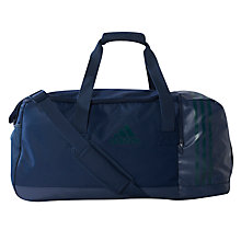 Buy Adidas Three Stripes Performance Team Duffel Bag, Medium, Collegiate Navy Online at johnlewis.com