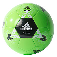 Buy Adidas Starlancer V Football, Size 5, Green/Black Online at johnlewis.com