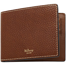 Buy Mulberry Eight Card Natural Grain Leather Wallet Online at johnlewis.com