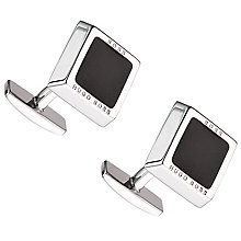 Buy BOSS Franzisko Square Cufflinks, Black Online at johnlewis.com