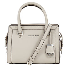 Buy MICHAEL Michael Kors Collins Small Satchel, Cement Online at johnlewis.com