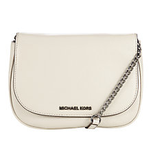 Buy MICHAEL Michael Kors Bedford Medium Leather Saddle Bag, Cement Online at johnlewis.com