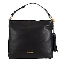 Buy MICHAEL Michael Kors Elyse Large Leather Shoulder Bag, Black Online at johnlewis.com
