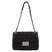 Buy MICHAEL Michael Kors Sloan Extra Large Leather Chain Shoulder Bag, Black Online at johnlewis.com