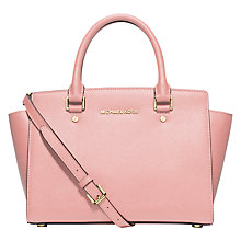 Buy MICHAEL Michael Kors Selma Medium Leather Satchel, Blossom Online at johnlewis.com