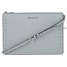 Buy MICHAEL Michael Kors Ava Studded Large Convertible Leather Clutch Online at johnlewis.com