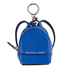 Buy MICHAEL Michael Kors Rhea Backpack Leather Coin Charm Online at johnlewis.com