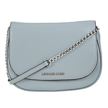 Buy MICHAEL Michael Kors Bedford Small Leather Saddle Bag, Blue Online at johnlewis.com
