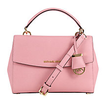 Buy MICHAEL Michael Kors Ava Small Satchel, Misty Rose Online at johnlewis.com