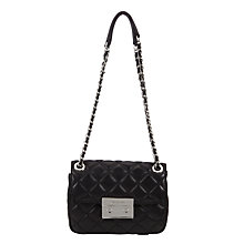 Buy MICHAEL Michael Kors Sloan Small Leather Chain Shoulder Bag, Black Online at johnlewis.com