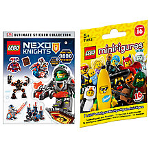 Buy LEGO Nexo Knights Ultimate Sticker Collection with Minifigures Online at johnlewis.com
