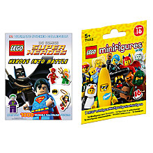 Buy LEGO DC Comics Super Heroes Ultimate Sticker Collection with Minifigures Online at johnlewis.com