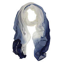 Buy Mint Velvet Ombre Scarf, Blue/Ivory Online at johnlewis.com