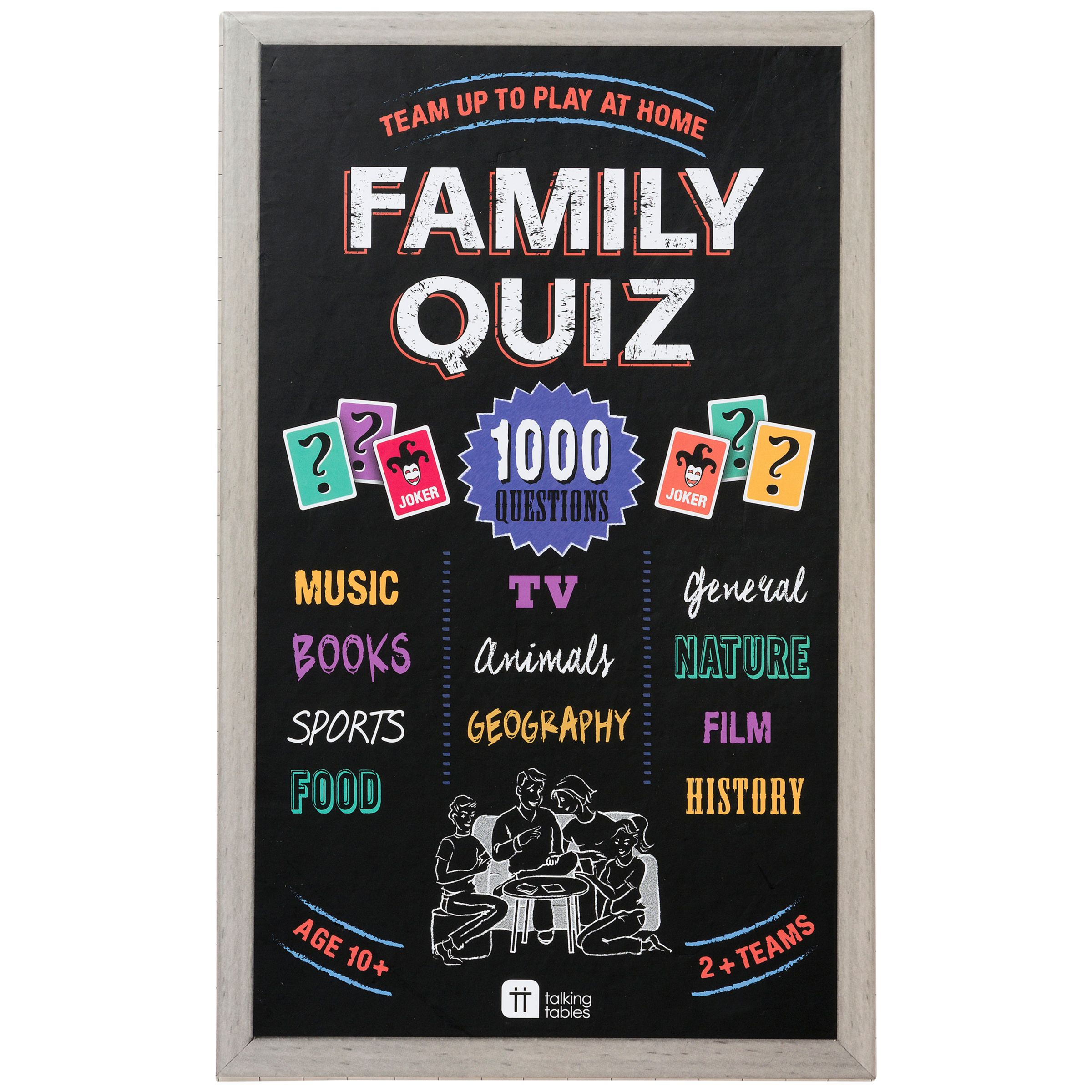 Talking Tables Talking Tables Family Quiz Game