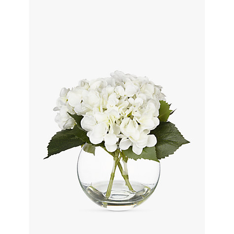 buy artificial peony hydrangea in fishbowl white john lewis. Black Bedroom Furniture Sets. Home Design Ideas