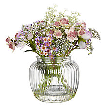 Buy Peony Purple Flowers in Glass Bottle Vase Online at johnlewis.com