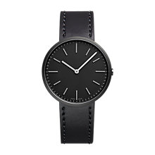 Buy Uniform Wares M37SKK01CORBLK1818R01 Men's M37 Carbon Plated Leather Strap Watch, Black Online at johnlewis.com