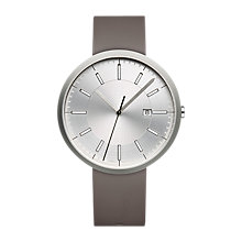 Buy Uniform Wares M40BSI01NITGRY1818R01 Men's M40 Date Rubber Strap Watch, Grey/Silver Online at johnlewis.com