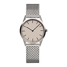 Buy Uniform Wares C35PSI01MILPSI1818R Men's C35 Bracelet Strap Watch, Silver/Cream Online at johnlewis.com