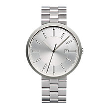 Buy Uniform Wares M40BSI01BRABSI1818R01 Men's M40 Date Bracelet Strap Watch, Silver Online at johnlewis.com