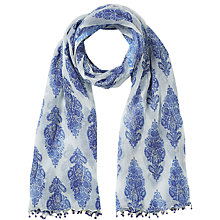Buy East Anokhi Sahara Print Scarf, Blue Online at johnlewis.com