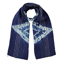 Buy East Kantha Stitch Scarf, Indigo Online at johnlewis.com