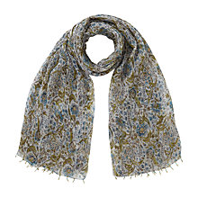 Buy East Anokhi Pervani Print Scarf, Blue Online at johnlewis.com