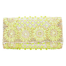 Buy East Pom Pom Clutch Bag, Yellow Online at johnlewis.com