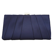 Buy Phase Eight Eva Satin Clutch Bag, Navy Online at johnlewis.com