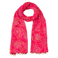 Buy East Anokhi Chandhi Scarf, Pink Online at johnlewis.com