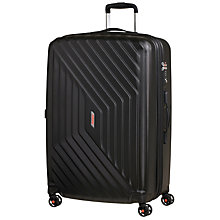 Buy American Tourister Air Force 1 4-Spinner 75cm Suitcase, Black Online at johnlewis.com