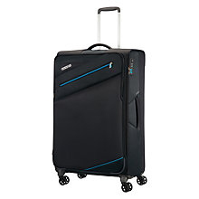Buy American Tourister Pikes Peak 4-Spinner Wheel 77cm Suitcase, Black Online at johnlewis.com