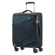 Buy American Tourister Pikes Peak 4-Spinner Wheels 55cm Cabin Case, Black Online at johnlewis.com