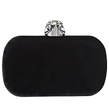 Buy John Lewis Bella Box Clutch Bag, Black Online at johnlewis.com