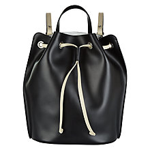 Buy Jaeger Banks Leather Backpack, Black Online at johnlewis.com