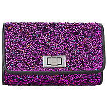 Buy John Lewis Mini Clutch Bag, Bright Pink Online at johnlewis.com