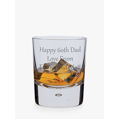 Dartington Crystal Personalised Exmoor Old Fashioned Whisky Glass (Single), Gabriola Font