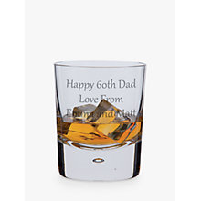 Buy Dartington Crystal Personalised Exmoor Old Fashioned Whisky Glass (Single), Gabriola Font Online at johnlewis.com