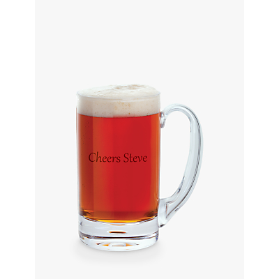 Dartington Crystal Personalised Exmoor Tankard, Gabriola Font